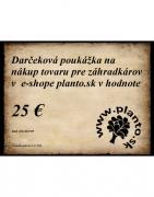 Darčeková poukážka 25 €